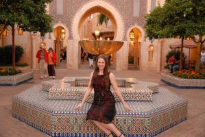 Amira World Dancer - Morocco Fountain by Bonedaddybruce