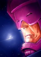 Galactus and Silver Surfer by pungang
