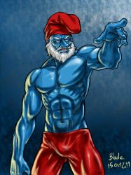 Papa Smurf by Blade-Fury
