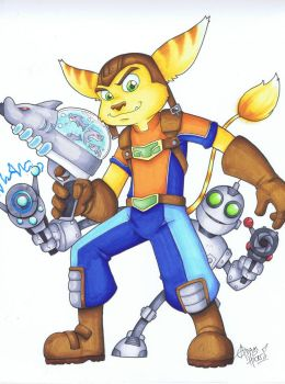 Ratchet and Clank by Gigatoast