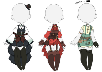 Steampunk outfits (Closed) by Kyunn-Adoptable