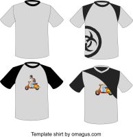 t shirt template design by omagus