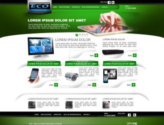 Layout EcoTronic by miqueias