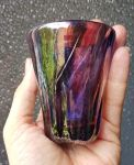Purple and silvered glass goblet by fairyfrog