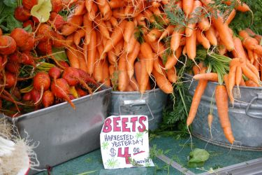 Farmers Market Root Vegetables by tetontrekker