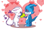 Veemon x Gatomon by Evinawer
