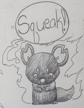 Inktober 2017 Day 26 Squeak by lizziecat1279