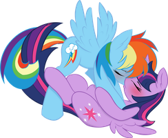 Vector love kiss between Dashie and Twili by Barrfind