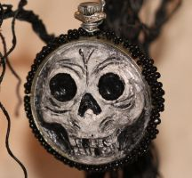 Halloween ornie - skelly by LabyrinthCreations