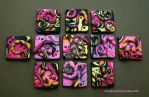 Bright and Colorful Polymer Clay Inchies by MandarinMoon