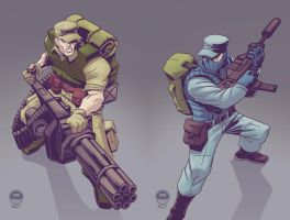 GIJoe - Repeater and Shockwave - Commission by EryckWebbGraphics