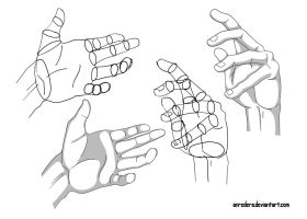 Hand Tutorial 9 - Different Poses by anredera