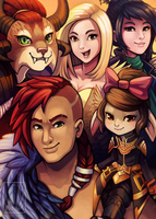 Happy Birthday GW2! PAX West Print :) by RinTheYordle