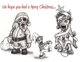 Zombie Christmas by cleophus