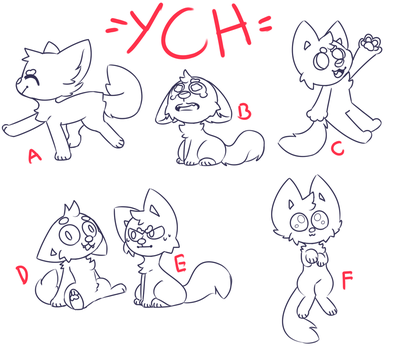 [CLOSED] CHEAP 100pts $1 Chibi YCH by royalraptors