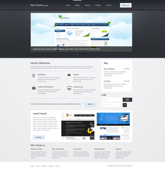 New Ground Webdesing - simple by callofsorrow