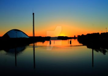 Clydeside Sunset by Crannogphotographic