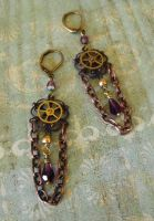Steampunk Carnival Earrings by JLHilton