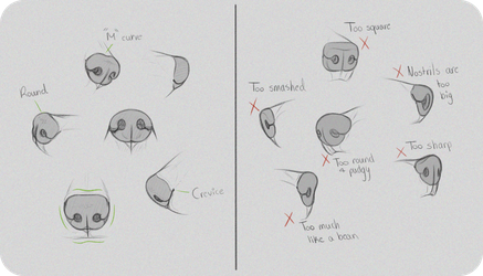 Realistic Canine Nose Tutorial by AntiDarkHeart