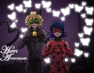 1 YEAR OF MIRACULOUS! by 2wolfan