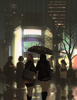 city rain by snatti89