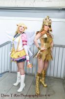 Eternal Sailor Moon and Galaxia by Miwako-cosplay