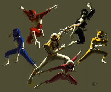 Power Rangers by DaveRapoza
