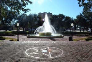 Fountain Outside the Dallas Train Station by AmbitiousArtisan