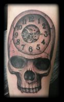 Skull clock by state-of-art-tattoo