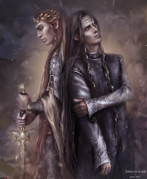 Tindmion and Gil-galad  by Kaprriss
