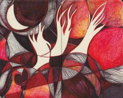 Moleskine IXX - Red Ghost Trees by Nakilicious