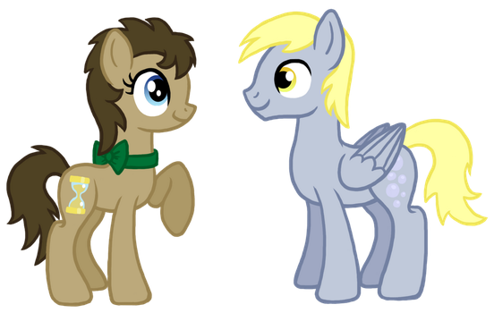 R63 Doctor and Derpy by InkRose98
