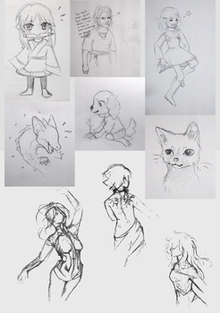 pencil sketchies by silverheart-nine