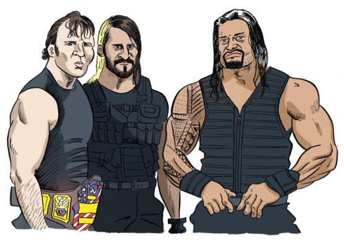 Ambrose Rollins Reigns by jkipper