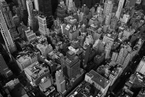 Looking down on New York City by lowjacker