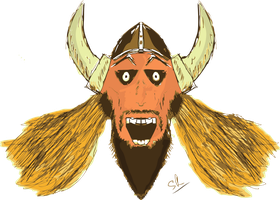Ragnfrid The Happy Viking by StaticRed