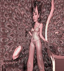 Brunette in Bodystocking by AlberichPotter