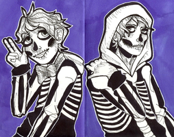 Skelly Dudes by caitiecatart