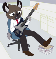 Haida Playing Bass by iwannadrawgood
