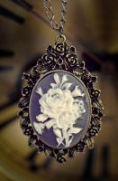 necklace - rose cameo by Sizhiven