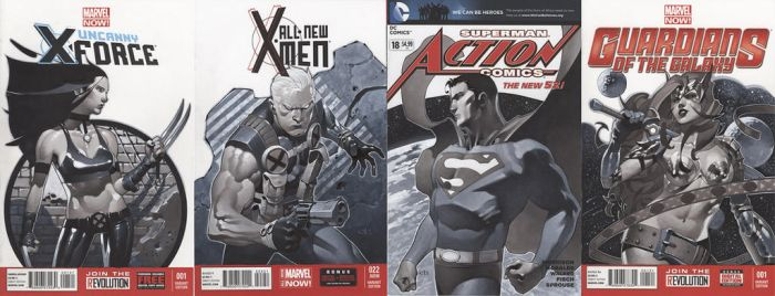 Sketch Cover Set 4 by ChristopherStevens