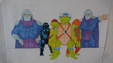TMNT Adventures collage.  by Shreddinghead