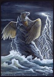 Gryphon Tarot: The Tower by silvermoonnw