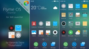 Flyme OS theme for 360 Launcher by Duophased