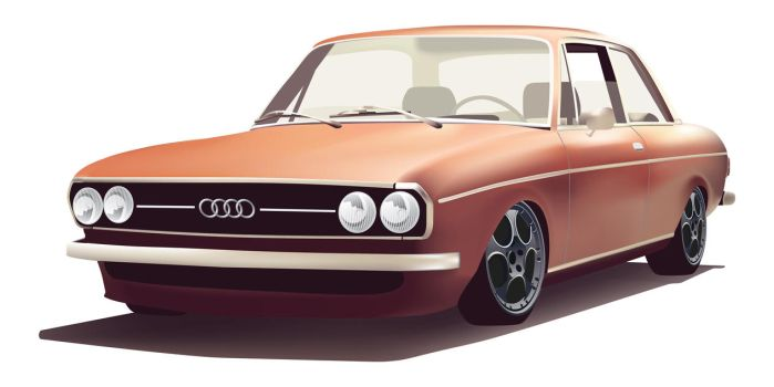 Design - Audi 100 C1 by artdigitalazax