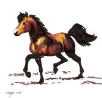 Marker Horse by Dustmeat