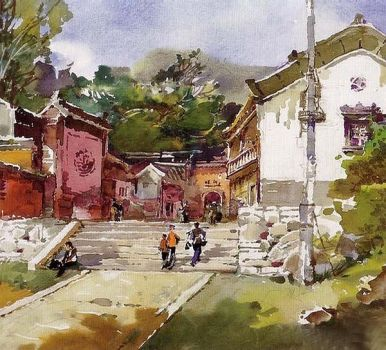 watercolor by sunflowerer