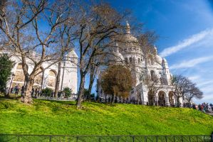 Paris the city of lights - church in Montmartre by Rikitza