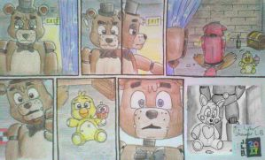 Foxy's Solitary Moment, Freddy's Flashback by SammfeatBlueheart