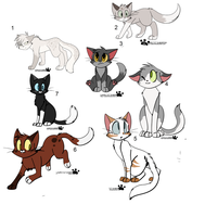 Huge Group Of Free Feline Adoptables by PoisonFate